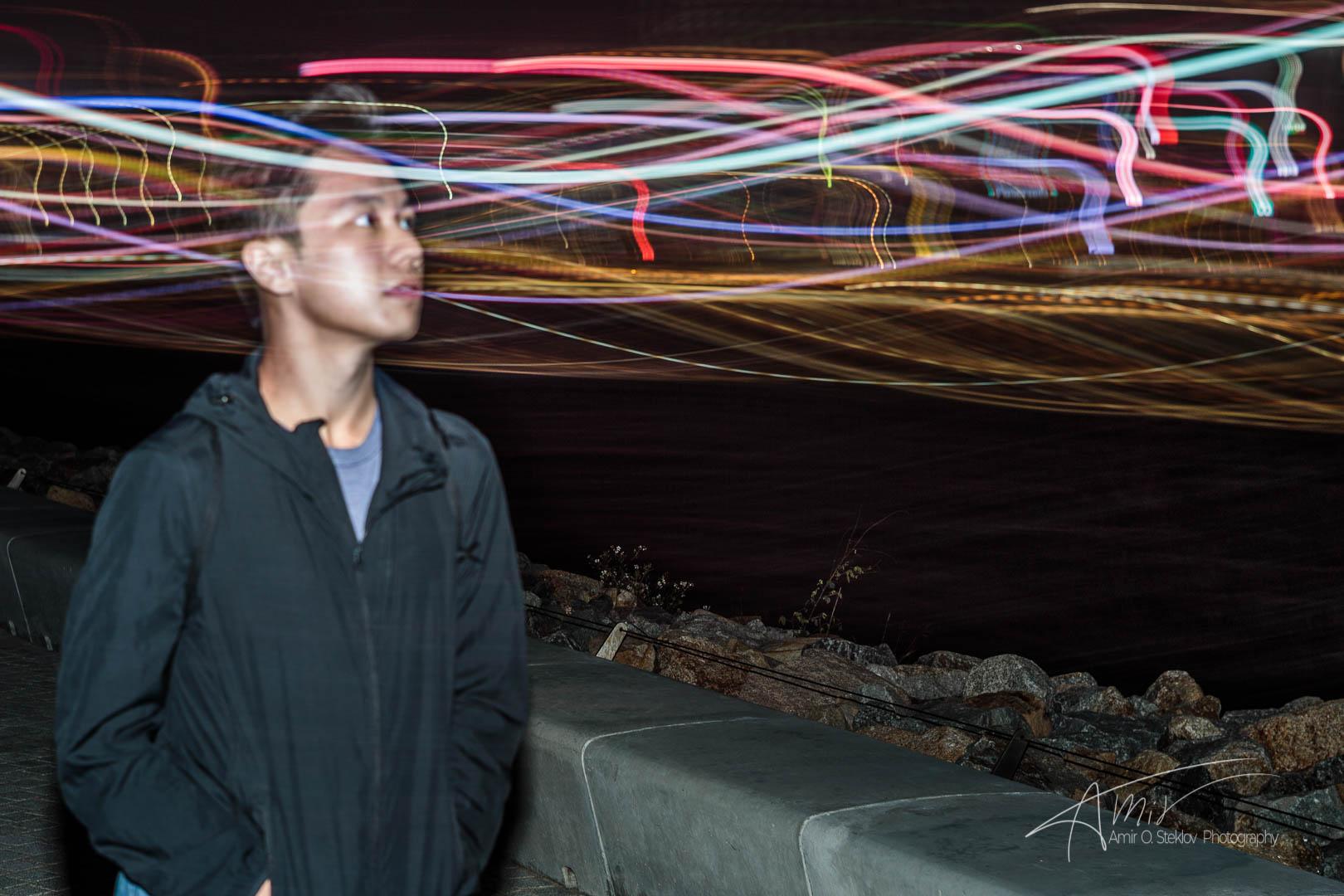 looking at lights