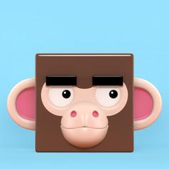 Zoocubes  Monkey