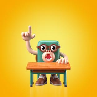 Hands!Up! #07 Schoolar monkey