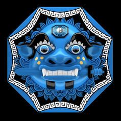 Kite Mask blue