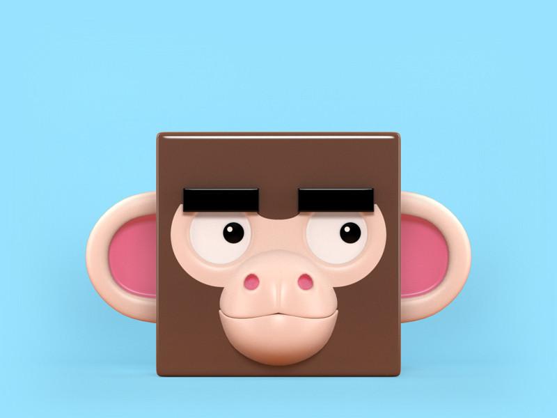 Zoocube 3D Monkey