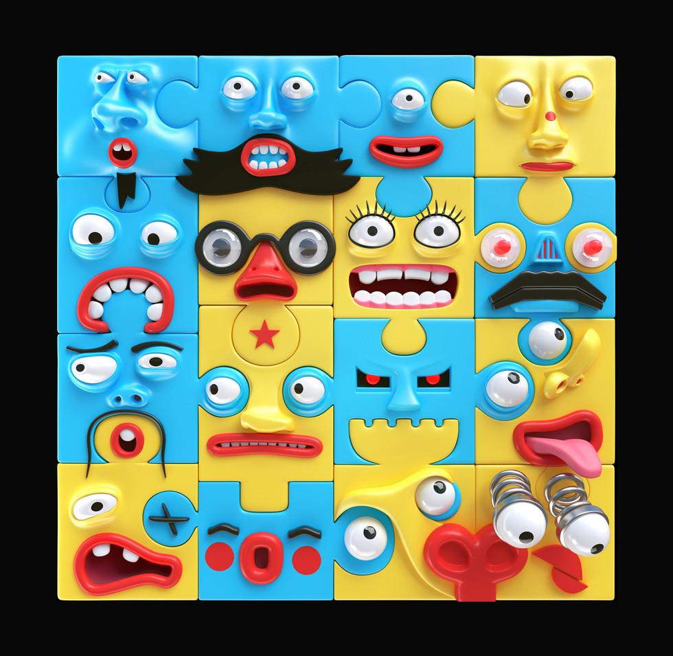 Puzzled Cg illustration full frame
