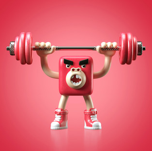 Hands!Up! #02 heavy monkey red weights