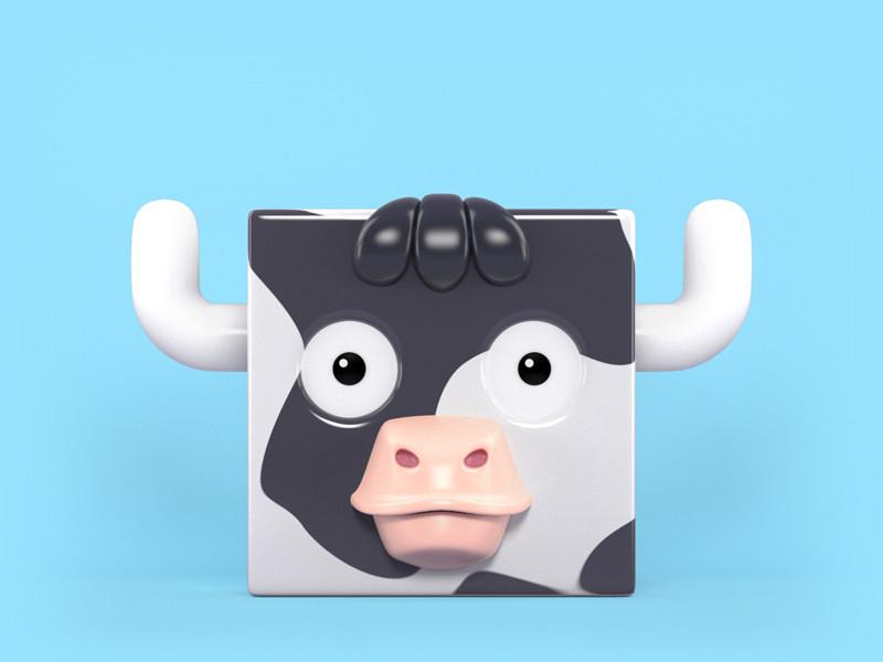 Zoocube 3D Cow