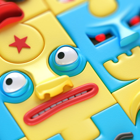 Puzzled CG illustration#01