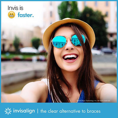 Invisalign Clear aligner with wonderful smile