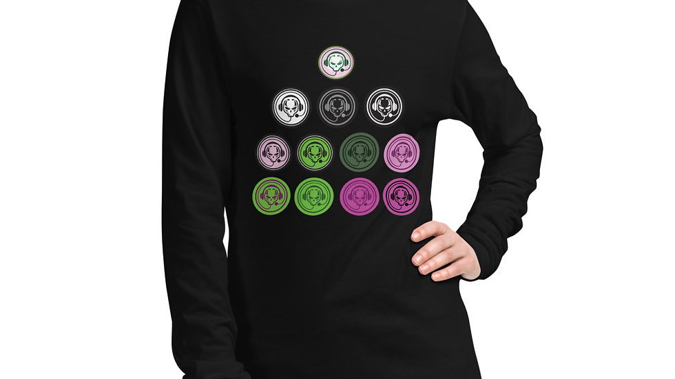 Multi Logo Front Long Sleeve Tee