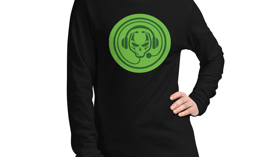 Green Logo Front Long Sleeve Tee