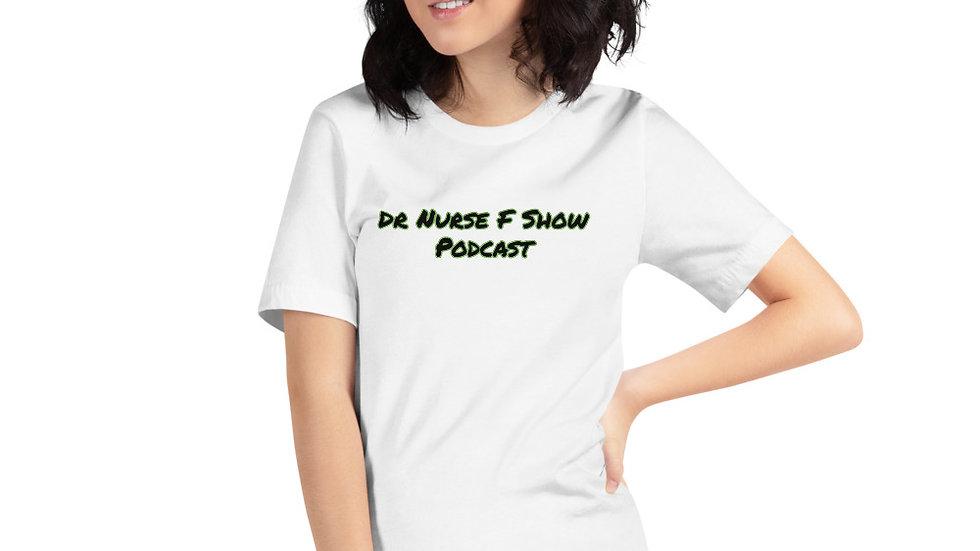 Writing front and logo back Short-Sleeve Unisex T-Shirt
