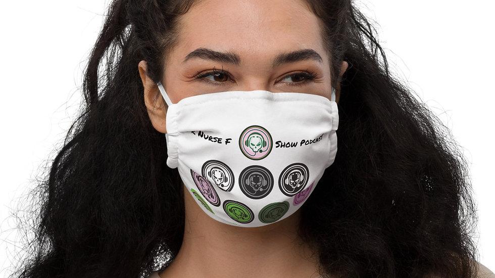 White multi logo Face mask
