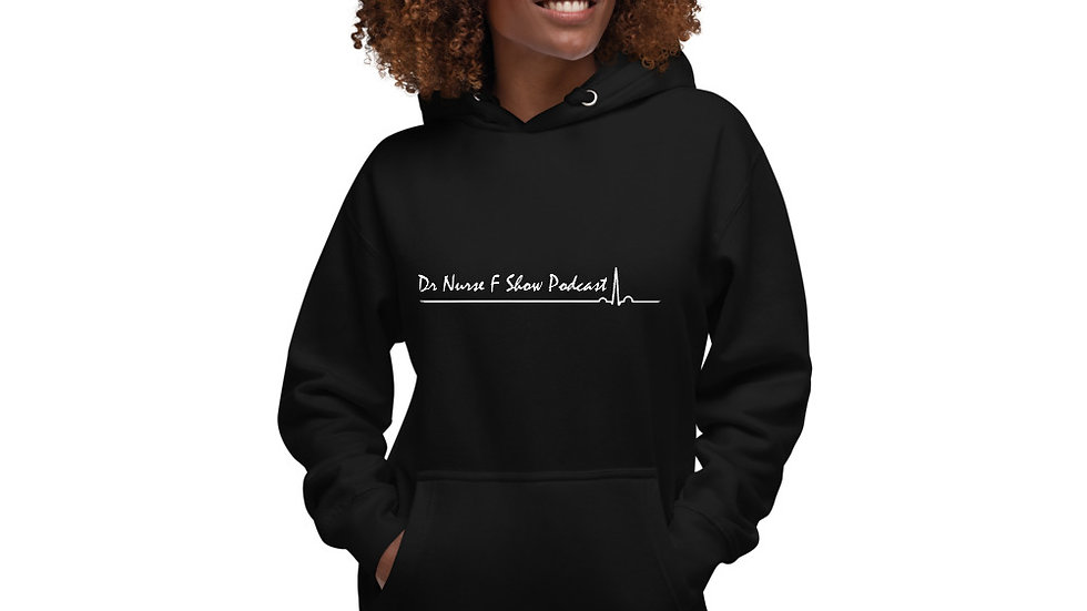 EKG front with logo back Hoodie