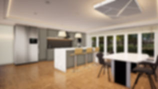 Open plan kitchen-diner