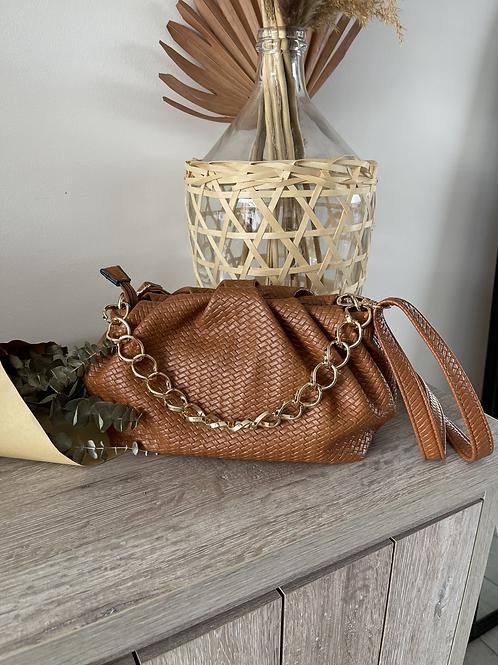 sac à main besace chaîne doré bandoulière