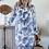 robe fluide toile de jour bleu grecy