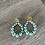 Boucles Lara, en grosses perles. Le poids d'une boucle d'oreille est de 8 grammes.