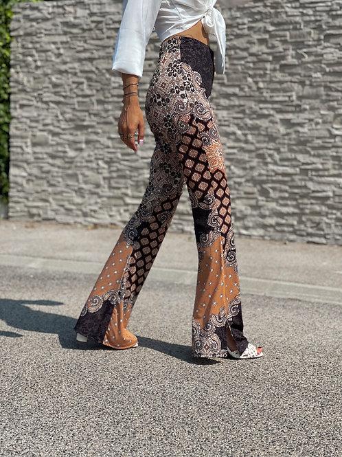pantalon flare legging motif arabesques grecy automne 2021 2022