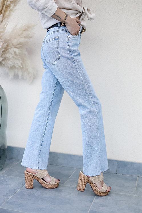 jean clair taille haute mini flare