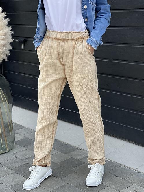 Pantalon matière gaze de coton , différents coloris . 100% coton. Fabriqué en Italie