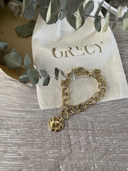 Bracelet rond unique martelé