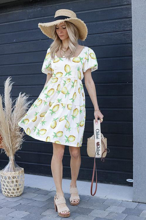 robe citrons imprimé grecy mode tendance été 2021