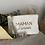 Pochettes inscription Maman d'amour en gaze de coton de différents coloris.