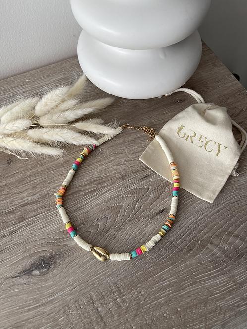 Collier perles colorées