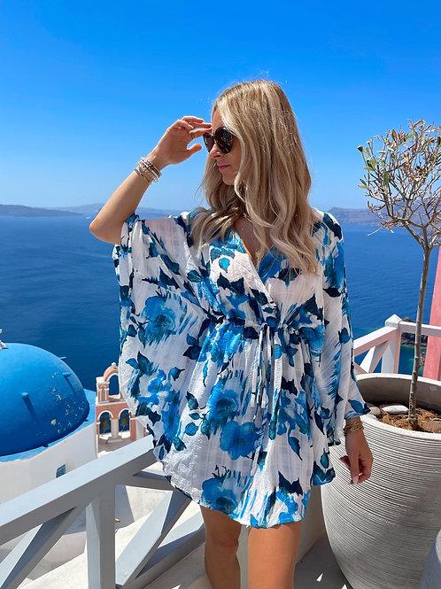 Tunique Fleurs Bleues