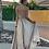robe longue de soirée dorée grecy
