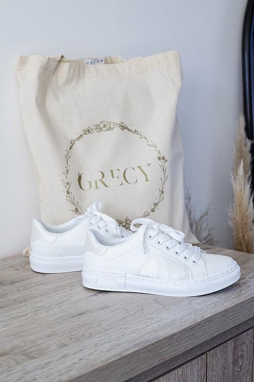 Baskets toutes blanches , parfaites pour porter au quotidien.