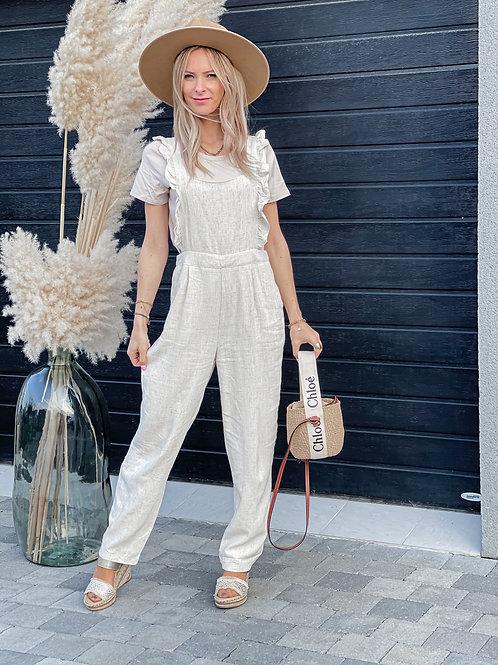 salopette lin volants pantalon combinaison grecy mode tendances vêtements printemps été 2021