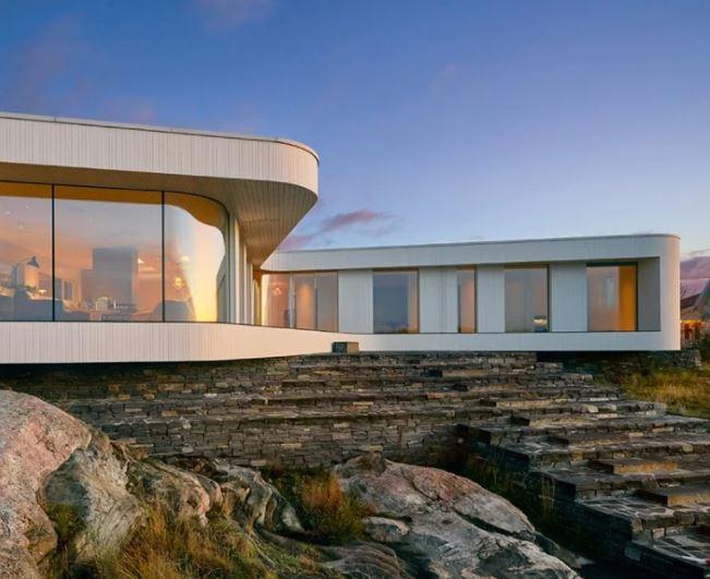 villa en por todd saunders A 'ganador del premio de diseño en la categoría de arquitectura, construcción y diseño de estructuras, 2019 imagen © bent rené synnevåg