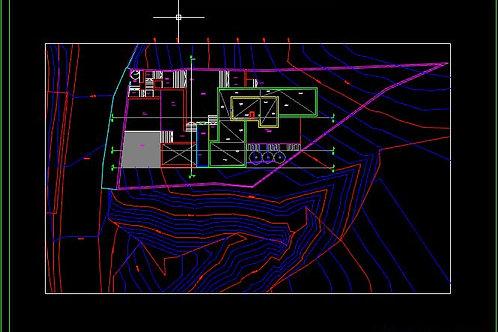 Proyecto Básico de VIVIENDA UNIFAMILIAR EN LADERA pronunciada. Archiv Editables