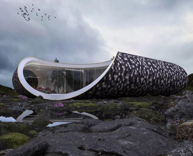 Casa de concha Scandinava