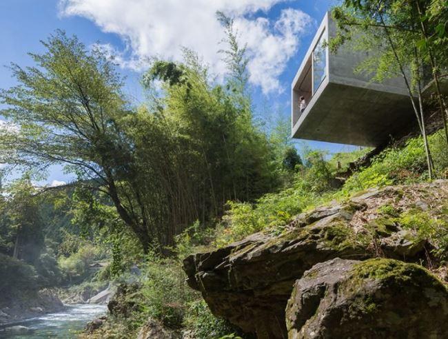 Cliff house por masato sekiya A 'ganador del premio de diseño en la categoría de arquitectura, construcción y diseño de estructuras, 2019 imagen © akira KITA