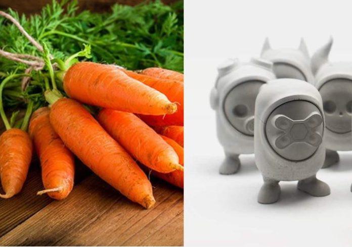 Zanahorias y hormigón ecológico