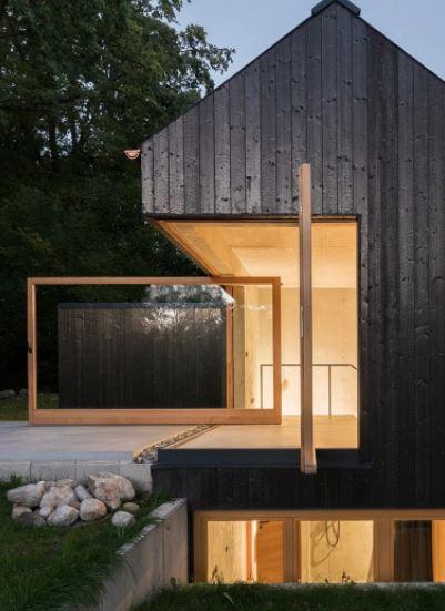 la casa negra de beuro wagner A 'ganador del premio de diseño en la categoría de arquitectura, construcción y diseño de estructuras, 2019 imagen © florian holzherr