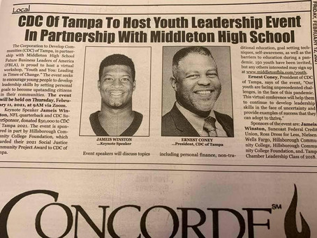 CDC of Tampa To host Youth Leadership Event In Partnership With Middleton High School
