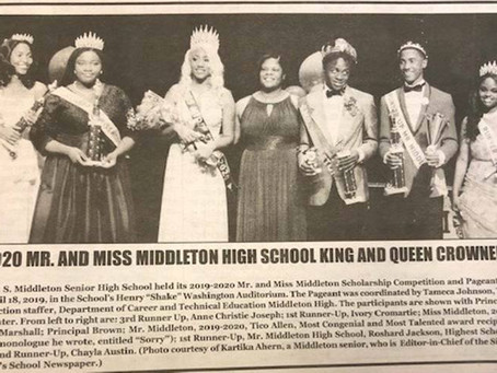 2019-2020 Mr. and Ms. Middleton High School King and Queen Crowned