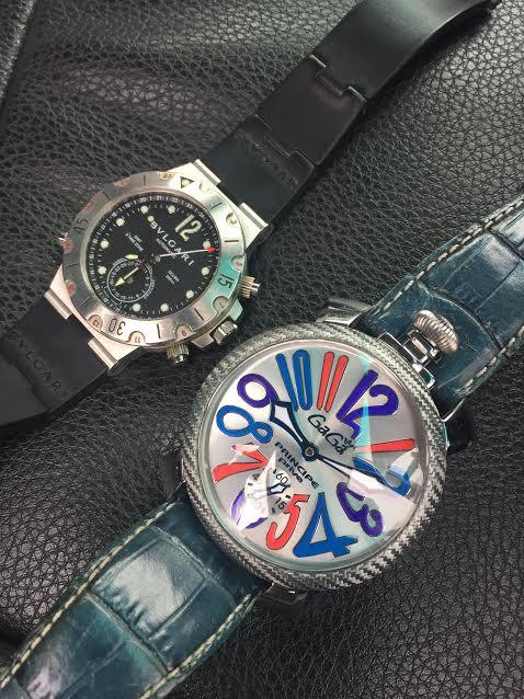本日の買取実績☆ブルガリ ディアゴノ ガガミラノ手巻き 腕時計