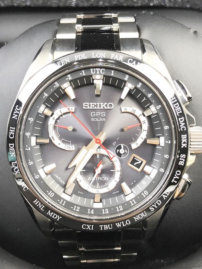買取実績☆セイコー アストロン SBXB041 GPSソーラー デュアルタイム 時計買取 今池 千種 池下 名古屋No.1高価買取