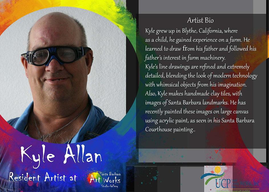 Kyle Allan Artist bio Santa Barbara studio