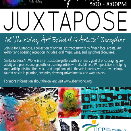 1st Thursday Exhibit Showcasing Abstract Art by Adults with Disabilities