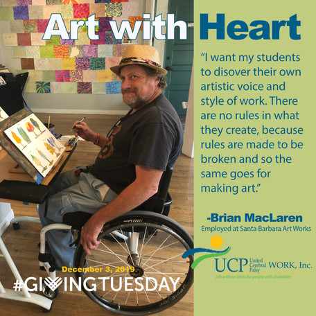 Give to ART WITH HEART Fundraiser to Support Art Instruction for Artists with Disabilities