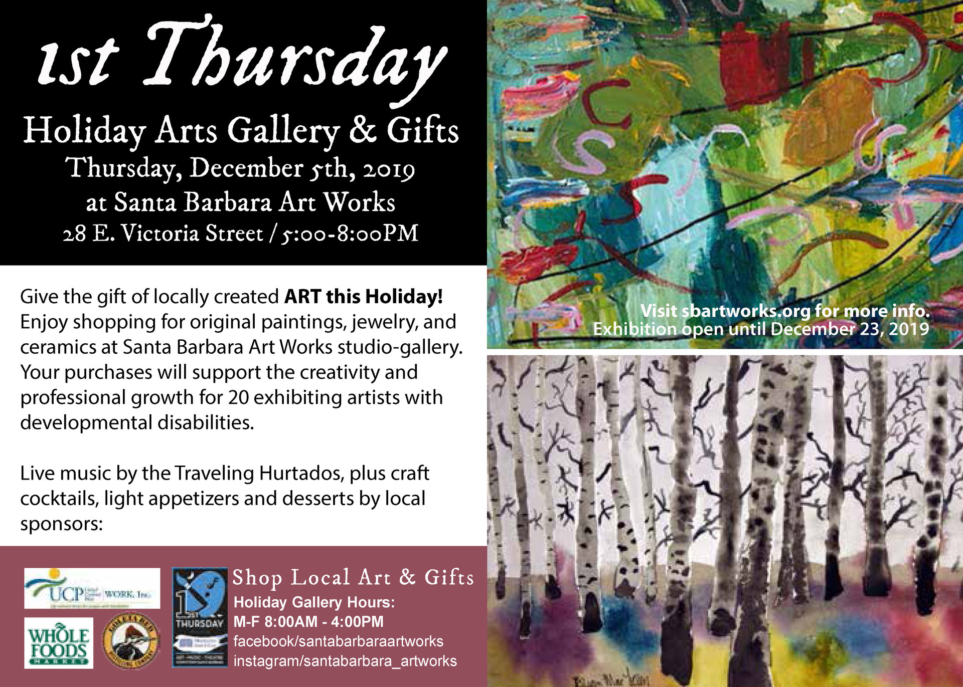 1st Thursday Holiday Arts & Gifts