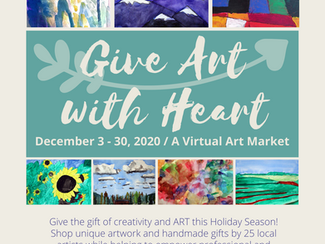 Give Art with Heart - A Holiday Virtual Art Market benefitting Artists with Disabilities