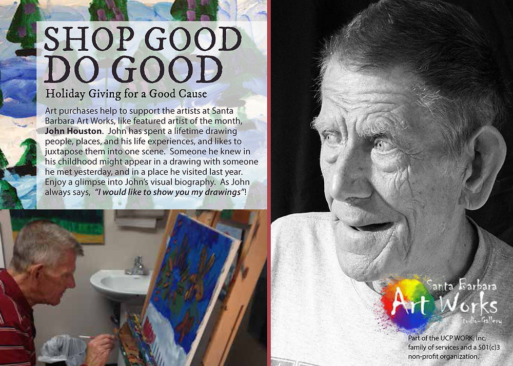Event details for Artist Exhibition featuring resident artist John Houston
