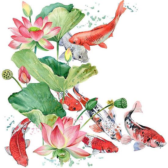 3 Boyutlu Duvar Kağıtları | Muhteşem Sualtı Çiçekler Duvar Kağıtları