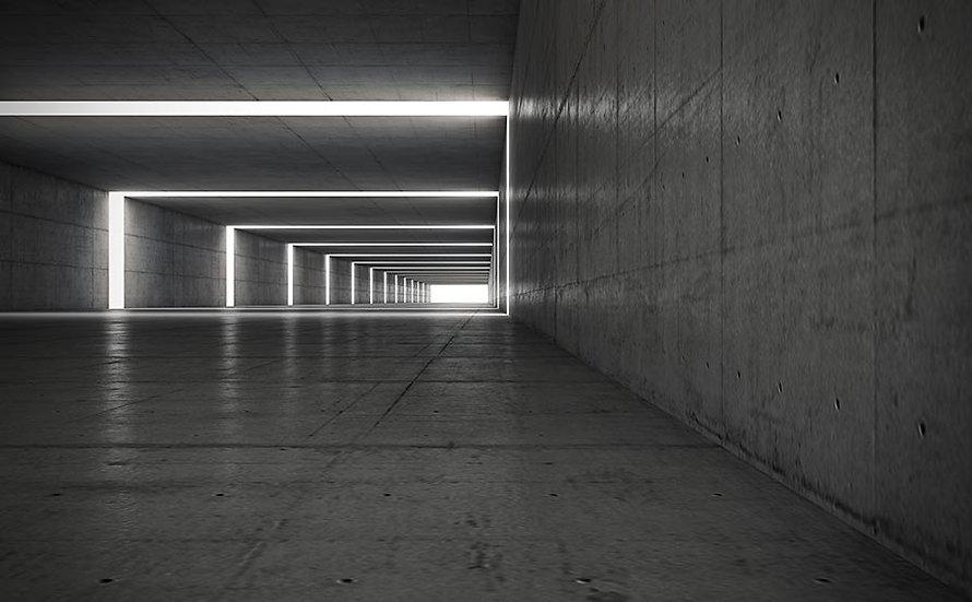 3D Metro Tünel Duvar Kağıtları | Desenli Led Işıklı Tünel Duvar Kağıtları