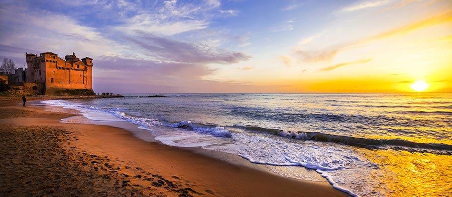 3 Boyutlu Kumsal Duvar Kağıtları | HD Gün Batımı Sahil Duvar Kağıtları