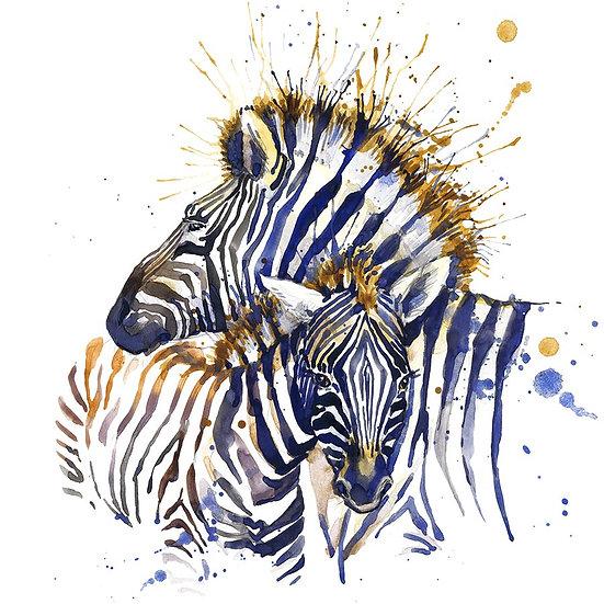 3 Boyutlu Hayvan Duvar Kağıtları | Full HD Zebra Çizim Duvar Kağıtları